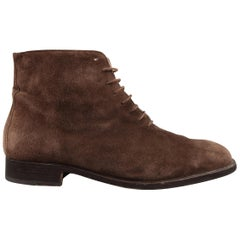 BRUNO MAGLI Size 9.5 Brown Suede Lace Up Chukka Ankle Boots