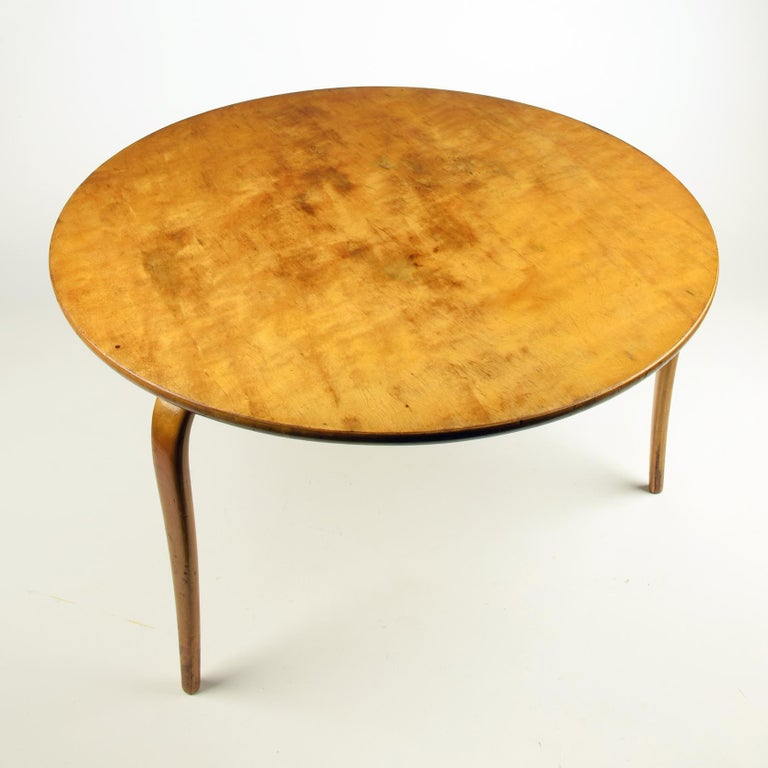 Swedish Bruno Mathsson, 'Annika' Table, Designed 1936, Beautiful Early Example For Sale
