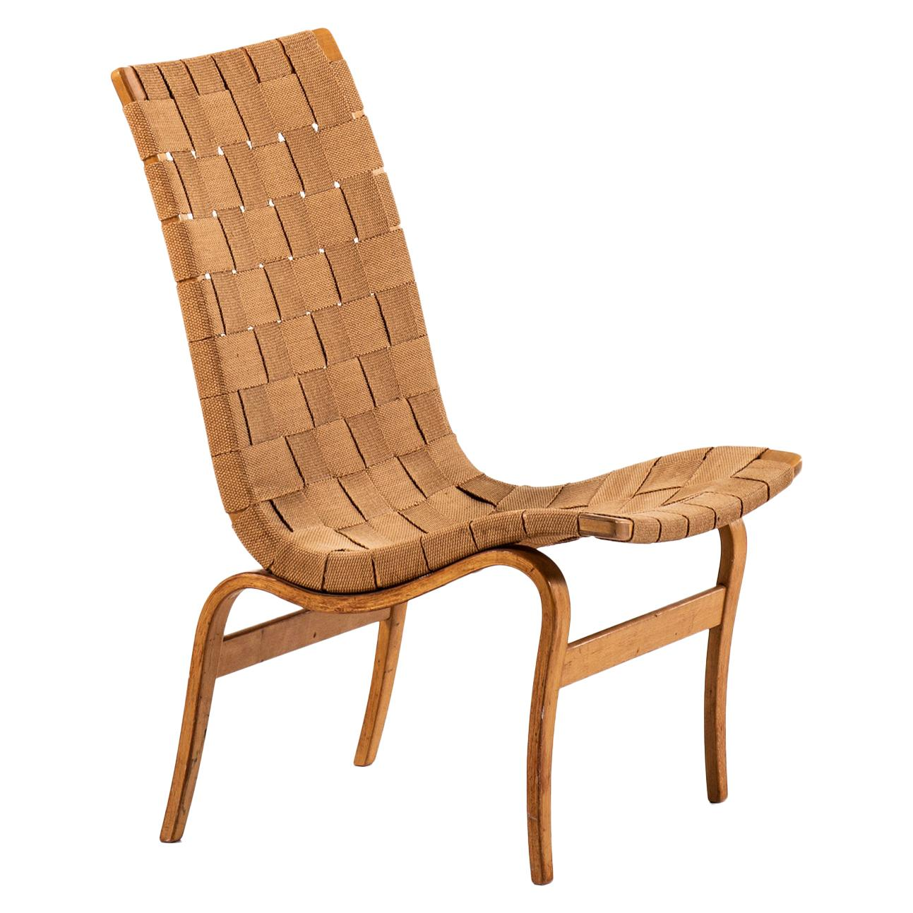 Bruno Mathsson Early Eva Easy Chair by Karl Mathsson in Värnamo, Sweden