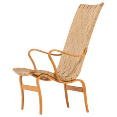 Bruno Mathsson Easy Chair Model Eva Hög Produced by Karl Mathsson in Sweden