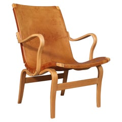 Bruno Mathsson Eva Lounge Chair with Leather