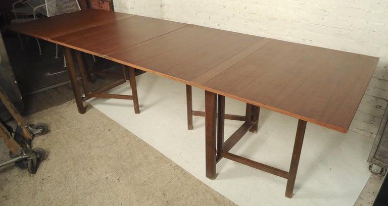 Mid-Century Modern Bruno Mathsson Extending Teak Table For Sale