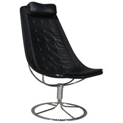 Bruno Mathsson Jetsson Lounge Chair with Black Leather