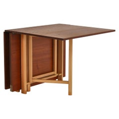 "Bruno Mathsson ""Maria Flap"" Folding Table in Teakwood, Karl Mathsson, 1950s"