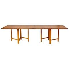 "Bruno Mathsson ""Maria Flap"" Folding Table, Karl Mathsson, Sweden, 1950s"