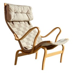 Bruno Mathsson Pernilla 1 Easy Chair by DUX Sweden, circa 1970s
