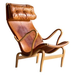 Bruno Mathsson Pernilla 1 Easy Chair by Karl Mathsson Sweden, circa 1971