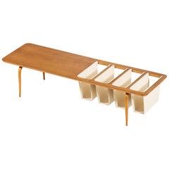 Bruno Mathsson Side Table Produced by Karl Mathsson in Värnamo, Sweden