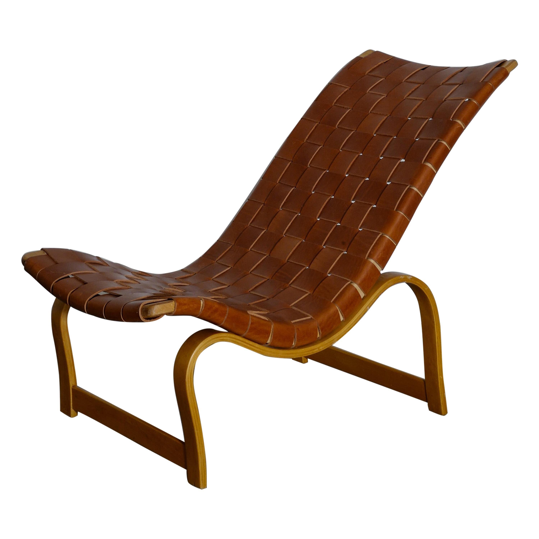 """Bruno Mathsson """"Vilstol 36 / Model 36"""" Easy Chair, 1960s"""