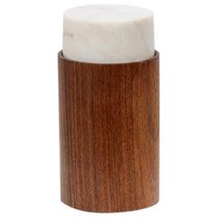 Bruno Munari Mid-Century Marble and Wood Jar for Danese Milano, 1961