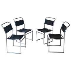 Bruno Pollak Four PEL LTD Stacking Chairs, 1930s