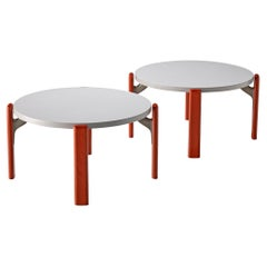 Bruno Rey for Dietiker Pair of Round Coffee Tables