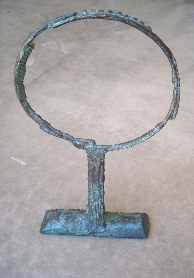 Italian Bruno Romeda Bronze, Signed, Dated 1987 For Sale
