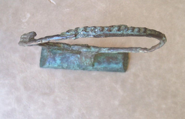 Late 20th Century Bruno Romeda Bronze, Signed, Dated 1987 For Sale