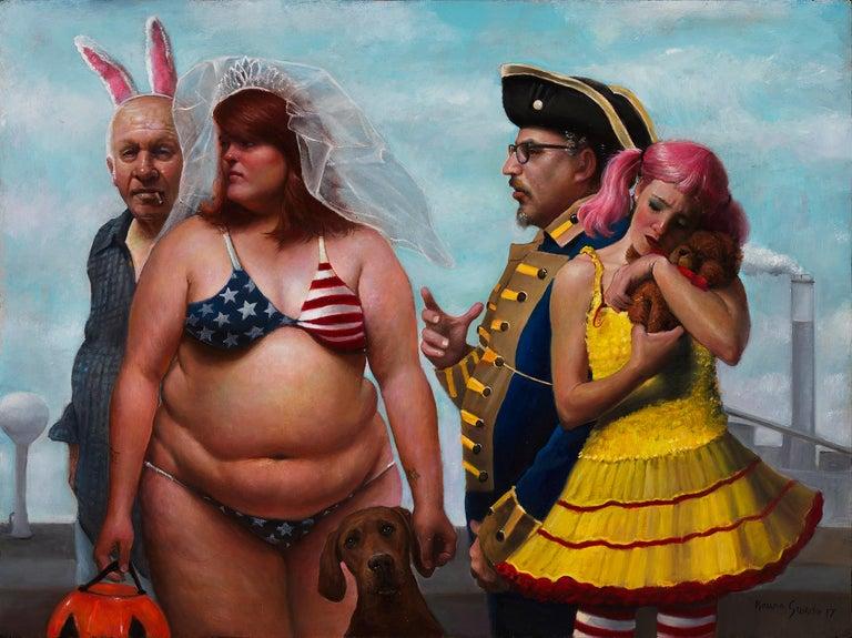 Bruno Surdo Figurative Painting - Trick or Treat