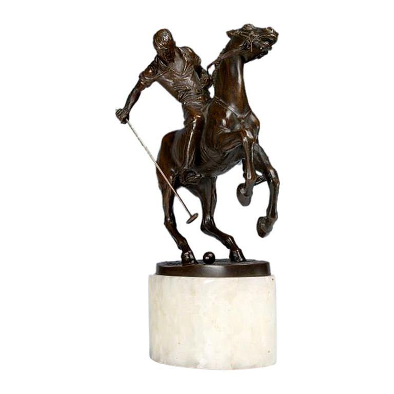 Bruno Zach polo player bronze For Sale