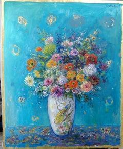 """""""Bouquet in Peacock Vase"""""""