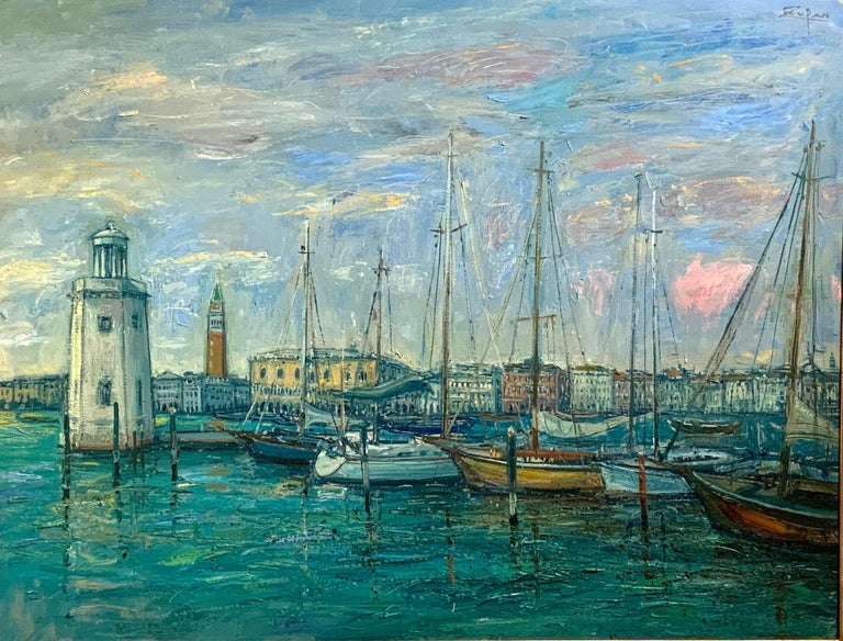 Yacht Club Venice. - Painting by Bruno Zupan