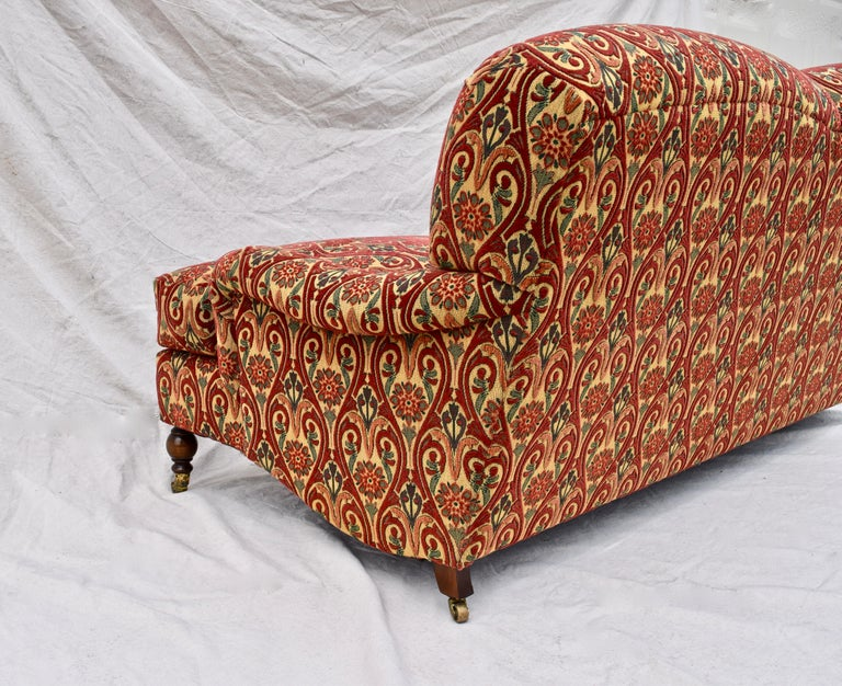Brunschwig & Fils English Sofa on Casters For Sale 3