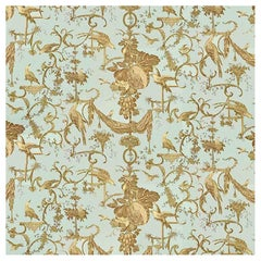 Brunschwig & Fils Kininvie Neoclassical Cotton Textile, Robins Egg Blue, 2000
