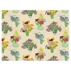 """Brunschwig & Fils """"Les Bouquets"""" Cotton Textile, Floral Fabric Vincent Van Gogh"""