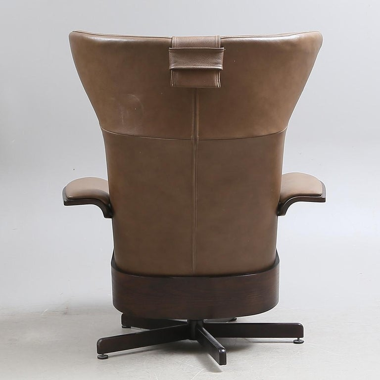Brunstad Møbler Amanda Leather Armchair with Ottoman For Sale 1