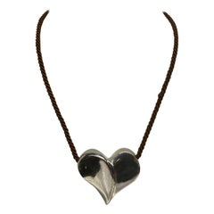 Brusca - Dante Sterling Silver Heart Pendant from 1975