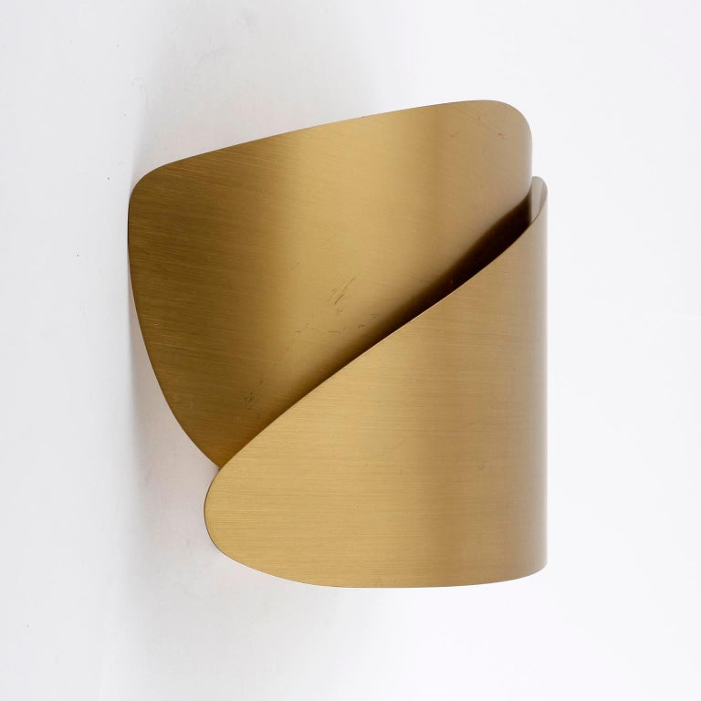 Brushed Brass Sconces, 1970s For Sale 3