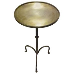 Brushed Brass Small Side or Cocktail Table, Contemporary