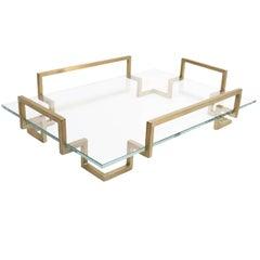 Brushed Brass Tipsy Tray