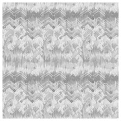 Brushed Herringbone Wallpaper in Grey by 17 Patterns