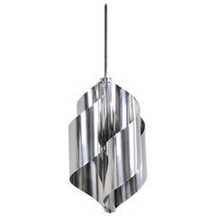 Brushed steel Hanging Lamp 1970S