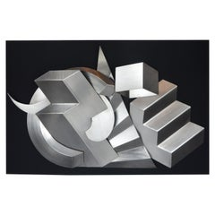 Brushed Steel Wall Sculputure by Bob Stimmel