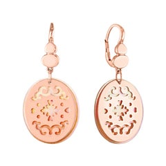 Brusi Jewelry Mother of Pearl and Rose Gold Drop Earrings