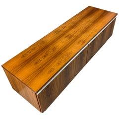 Bruskbo Danish Modern Rosewood Record Cabinet Midcentury