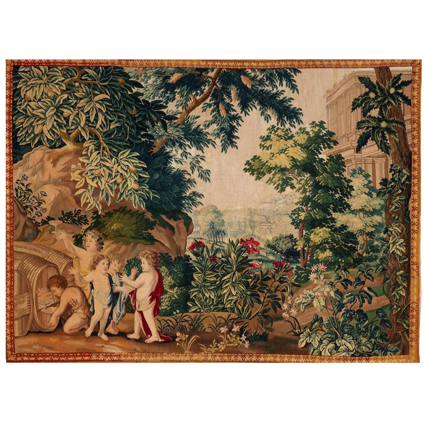 Brussels 18th Century Bacchanale Tapestry, circa 1760, 7'4 x 10'6