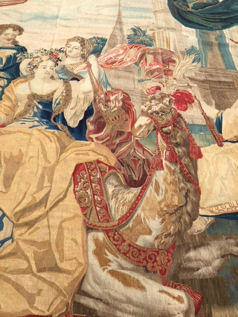 Brussels Late 17th Century Tapestry Asia from a Four Continents Series For Sale 3