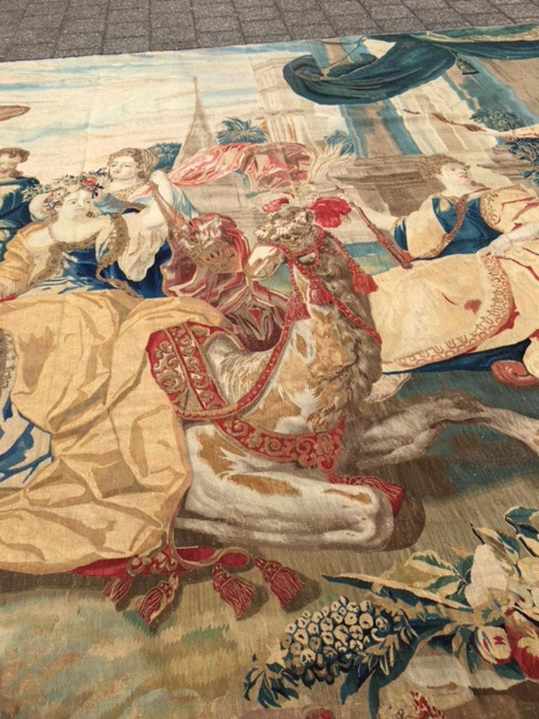 Brussels Late 17th Century Tapestry Asia from a Four Continents Series For Sale 4