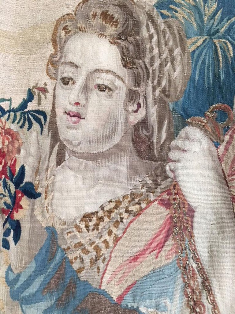 Brussels Late 17th Century Tapestry Asia from a Four Continents Series For Sale 7