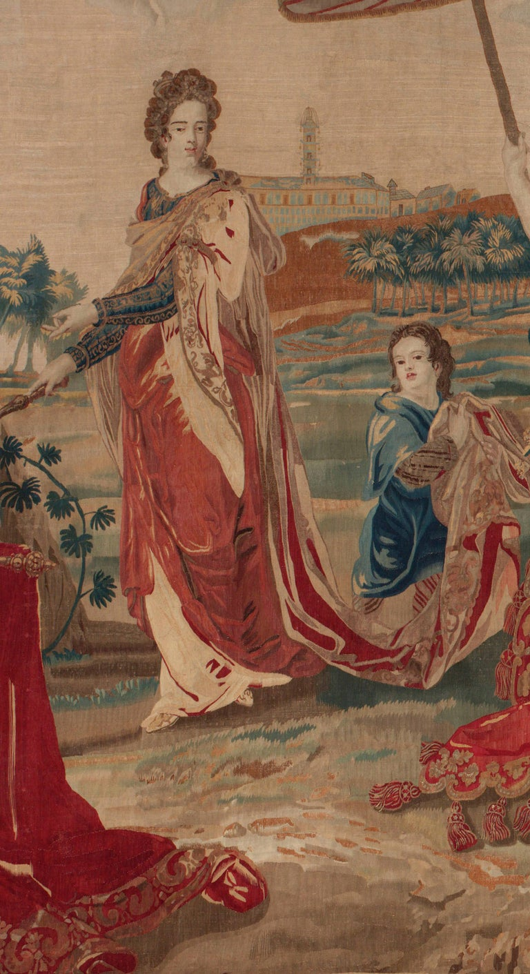 Belgian Brussels Late 17th Century Tapestry Asia from a Four Continents Series For Sale