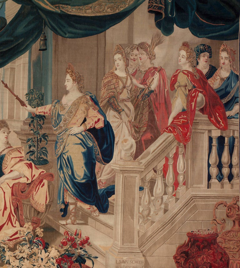 Hand-Woven Brussels Late 17th Century Tapestry Asia from a Four Continents Series For Sale