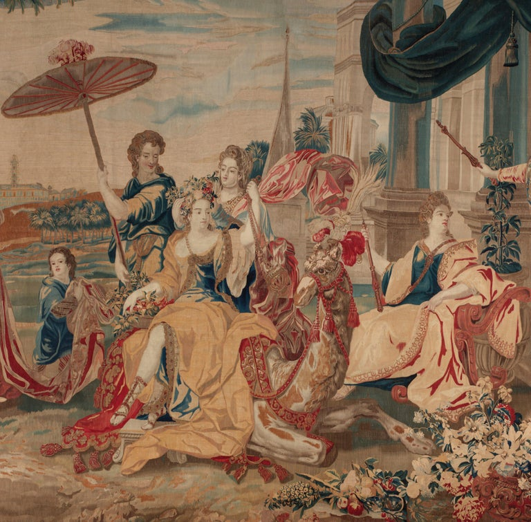 Brussels Late 17th Century Tapestry Asia from a Four Continents Series In Good Condition For Sale In New York, NY
