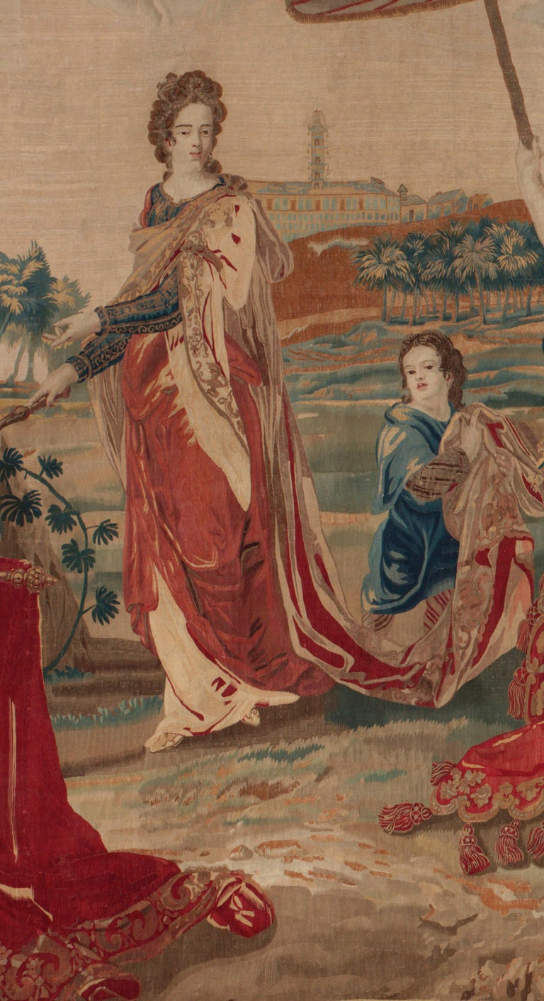 18th Century and Earlier Brussels Late 17th Century Tapestry Asia from a Four Continents Series For Sale