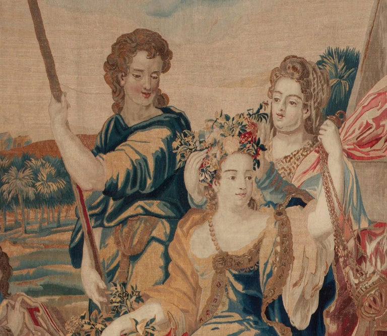 Wool Brussels Late 17th Century Tapestry Asia from a Four Continents Series For Sale