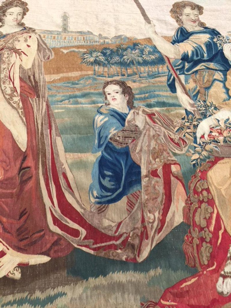 Brussels Late 17th Century Tapestry Asia from a Four Continents Series For Sale 1