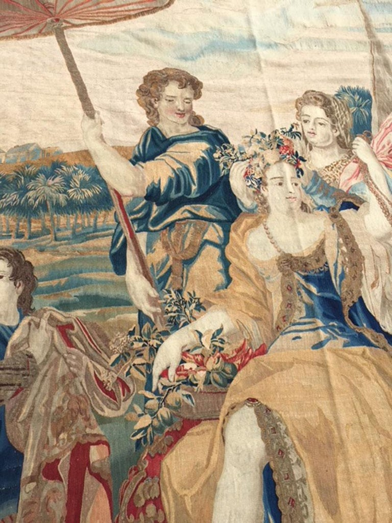 Brussels Late 17th Century Tapestry Asia from a Four Continents Series For Sale 2