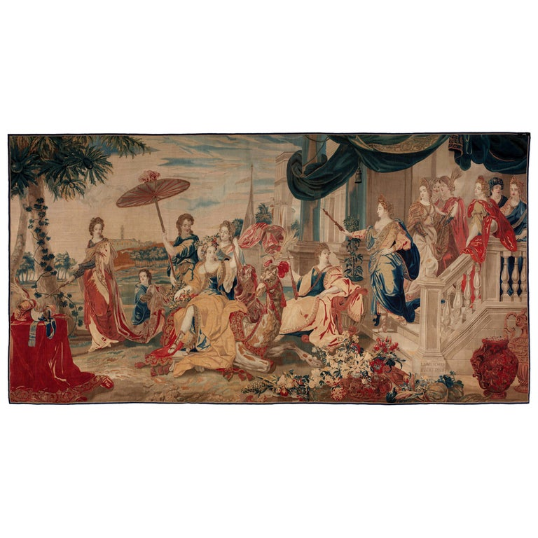Brussels Late 17th Century Tapestry Asia from a Four Continents Series For Sale