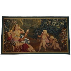 Brussels Tapestry Fragment, Venus and Adonis with Cupid, circa 1710