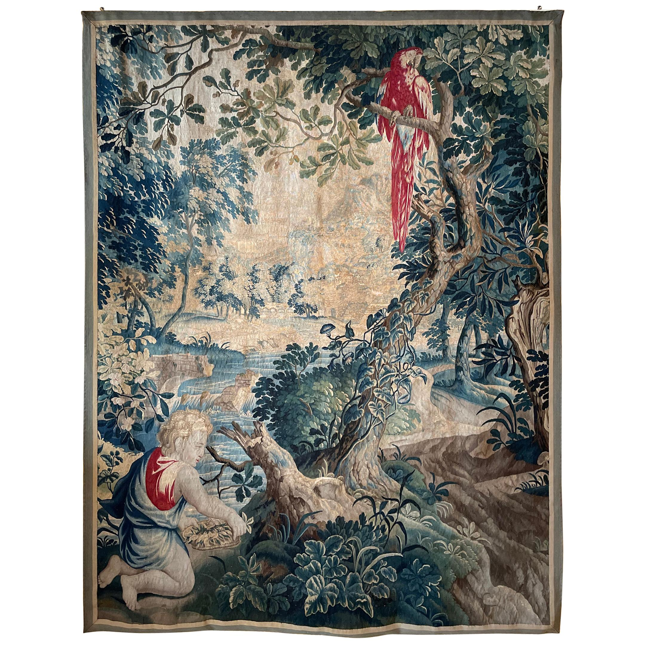 Brussels Tapestry from the 17th Century, Quarter of Point