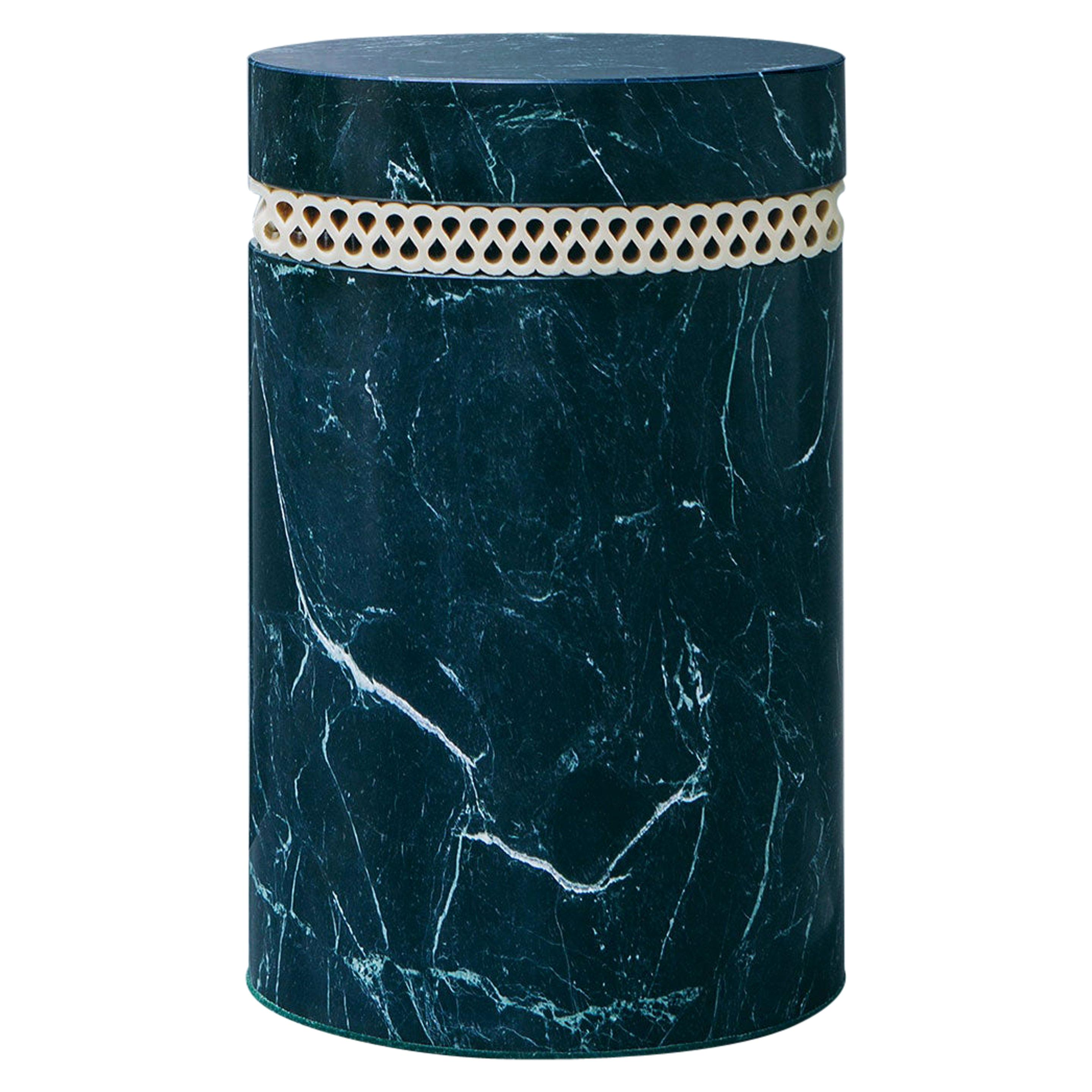 contemporary marble stool or side table, brut 01.1 c by barh.design